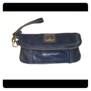 Fossil Wristlet w/ removable strap - Navy